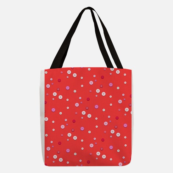 Red Button Collage 4Liza Polyester Tote Bag