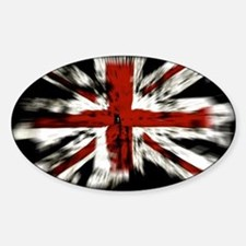 UK Flag England Sticker (Oval)