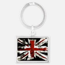 UK Flag England Landscape Keychain