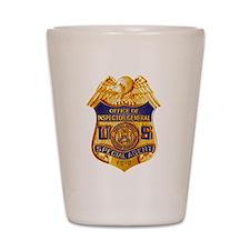 FDIC OIG Special Agent badge Shot Glass