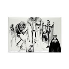Classic movie monsters Rectangle Magnet