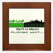 Saving the environment Framed Tile