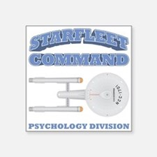 "Starfleet Psychology Division Square Sticker 3"" x"