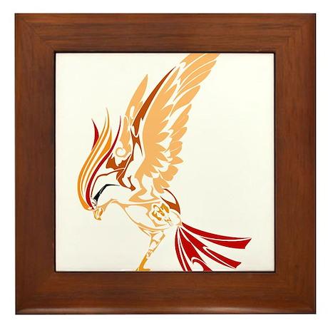 Tribal style bird Framed Tile