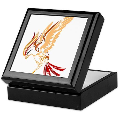 Tribal style bird Keepsake Box