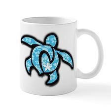 blue hawaiian print turtle Mug