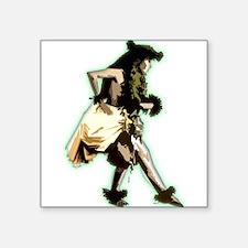 "hula dancer Square Sticker 3"" x 3"""