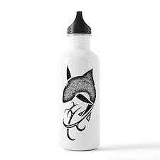 Tribal shark black Water Bottle