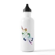 Rainbow flowers Water Bottle