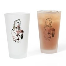 Zombie Grrrl Drinking Glass