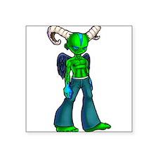 """Green demon Square Sticker 3"""" x 3"""""""