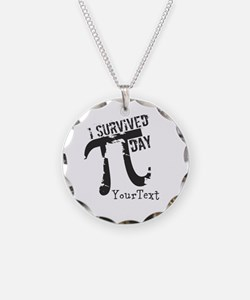 Text Option Funny Pi Day Necklace