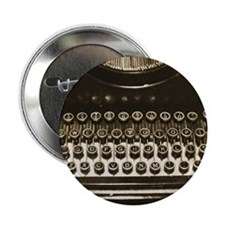 "Vintage Typewriter 2.25"" Button"