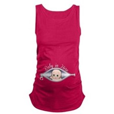 Peek a Boo Baby In Here Maternity Tank Top