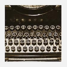 Old Fashion typewriter Tile Coaster