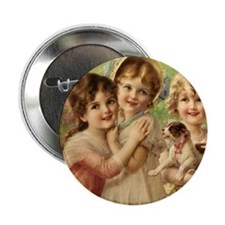 """Vintage Victoria oil painting. Best o 2.25"""" Button"""