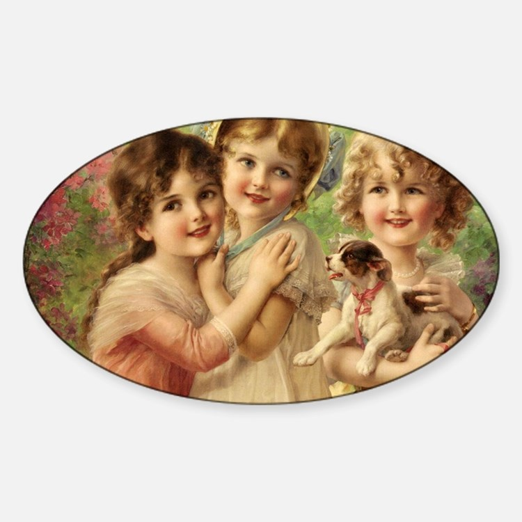 Vintage Victoria oil painting. Best Decal
