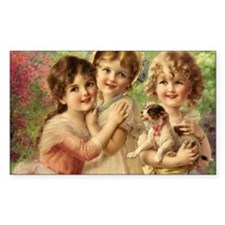 Vintage Victoria oil painting. Decal