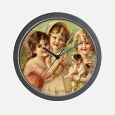 Vintage Victoria oil painting. Best of  Wall Clock