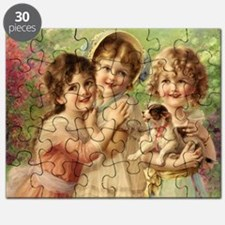Vintage Victoria oil painting. Best of Frie Puzzle