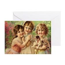 Vintage Victoria oil painting. Best  Greeting Card