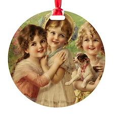 Vintage Victoria oil painting. Best Ornament