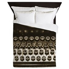 Vintage Typewriter Queen Duvet