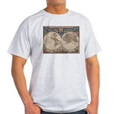 Vintage World Map 17th Century T-Shirt