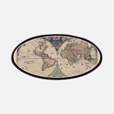 Vintage World Map 17th Century Patches