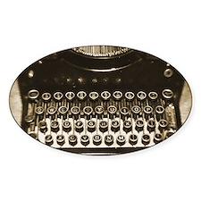 Vintage Typewriter Decal