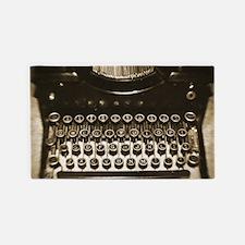 Vintage Typewriter 3'x5' Area Rug