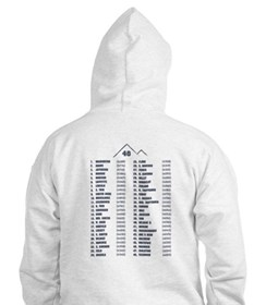 Unique White mountains Hoodie