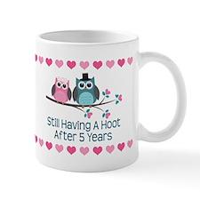 5th Anniversary Owl Gift Mugs