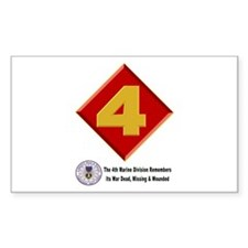 4th Marine Div. Remembers Decal
