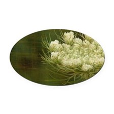 Queen Anne Lace Oval Car Magnet