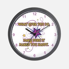 What Ever You Do Wall Clock