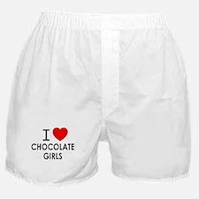 I LOVE CHOCOLATE GIRLS Boxer Shorts