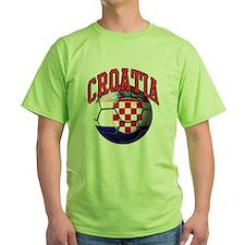 Flag of Croatia Soccer Ball T-Shirt