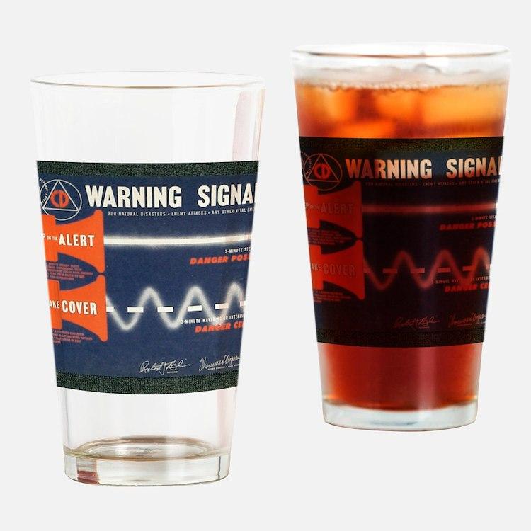 Civil Defense Drinking Glass