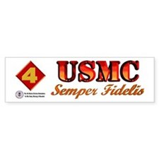 4th Marine Div. Remembers Bumper Sticker
