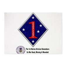 First Marine Div Remembers 5'X7'area Rug