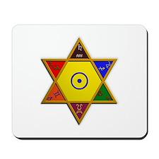 Kabbalistic Hexagram Mousepad