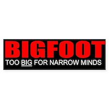too big bigfoot Bumper Car Sticker