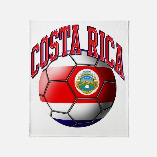 Flag of Costa Rica Throw Blanket