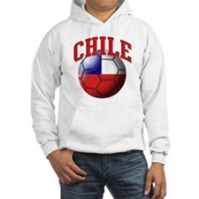 Flag of Chile Soccer Ball Hoodie
