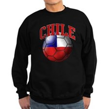 Flag of Chile Soccer Ball Sweatshirt