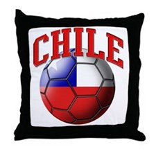 Flag of Chile Soccer Ball Throw Pillow