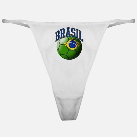 Flag of Brasil Soccer Ball Classic Thong