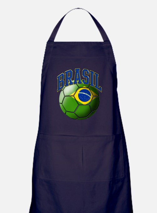 Flag of Brasil Soccer Ball Apron (dark)