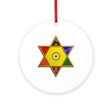 Kabbalistic Hexagram Ornament (Round)